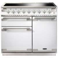 Rangemaster 100210 (ELS100EIWH) Elise 100cm Induction Range Cooker,  White/Chrome