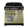Rangemaster 100900 (CDL90EIOG/C) CLASSIC DELUXE 90cm Induction Range Cooker,  Olive Green