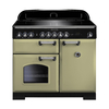 Rangemaster 100920 (CDL100EIOG/C) CLASSIC DELUXE 100cm Induction Range Cooker,  Olive G/C