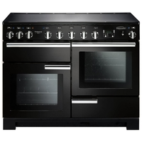 Cookers  - Rangemaster 101550 (PDL110EIGB/C) PROFESSIONAL DELUXE 110cm Induction Cooker, Black