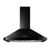 Rangemaster 64940 (LEIHDC90BC) 90cm Chimney Hood in Black with Chrome