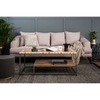 Sofas & Upholstered Furniture Mylo 3 Seater Natural Fabric Sofa