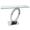 Furniture Orion Console Table Clear Glass & Stainless Steel