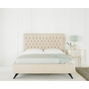 Furniture Sandringham Linen Fabric Bed Frame (Bed Size: Double)