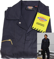 Car Accessories  - Dickies Redhawk Zip Front Coverall Navy 50 - Reg Leg