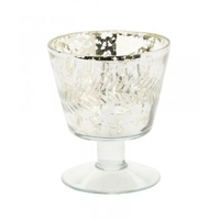 Wall decorations  - Antique Silver Goblet Tealight Holder