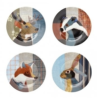 Tableware|Personalised Gifts  - Beasties Set of Four Plates by Carola van Dyke