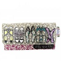 Shopping & beach bags|Personalised Gifts|Gifts for Women|Bags  - Ditsy Shoe Printed Wallet