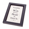 Art & Deco Laughter is Music for your Heart to Dance Framed Print