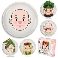 Tableware|Spoon Sets  - Miss Food Face Ceramic Plate
