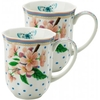 Set of 2 Dottie Butterfly Coffee Cups