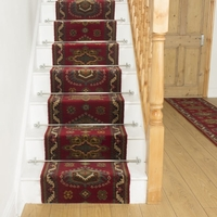 Carpets, Mats & Accessories  - Brink & Campman 80/20 Wool Stair Runner - Emir Red 10521