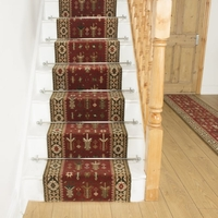 Carpets, Mats & Accessories  - Brink & Campman 80/20 Wool Stair Runner - Kashmir Red 76744