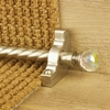 Carpets, Mats & Accessories Crystal Satin Nickel Finish Rainbow Spiral Stair Carpet Runner Rods