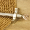 Carpets, Mats & Accessories Crystal Satin Nickel Finish Rose Reeded Stair Carpet Runner Rods