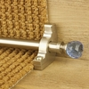 Carpets, Mats & Accessories Crystal Satin Nickel Finish Sky Plain Stair Carpet Runner Rods