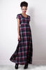 Women's Fashion Liquorish Check Maxi Dress