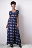 Women's Fashion Liquorish Navy Check Maxi Dress