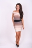 Dresses|Mini Camilla Cream Brown And Beige Gradient Off The Shoulder Striped Bodycon Bandage Dress