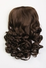 Brushes & Combs RUSSIAN STRANDS DOUBLE DELUXE SYNTHETIC VOLUMISING CURLY 3/4 HAIR PIECE 24 INCH - 8B MEDIUM BROWN