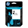 HP 15 Light Use Black Ink Print Cartridge (Yield 310 Pages)
