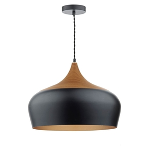 Ceiling lights  - Dar Gaucho Pendant Ceiling Light Black 45cm