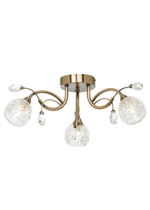 Ceiling lights  - Darroch 3 Light Ceiling Light Antique Brass