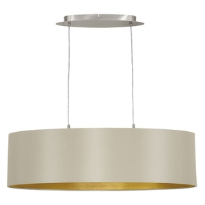 Eglo Maserlo 2 Light Ceiling Light Taupe