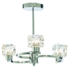 Ice Cube Twist 3 Light Polished Chrome Ceiling Light