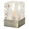 Mini Ice Cube Touch Table Lamp Antique Brass