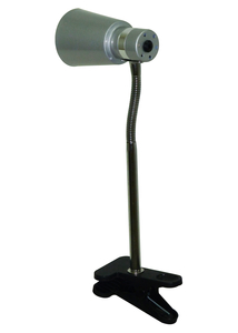 Table Lamps  - Searchlight Clip On Desk Lamp Silver