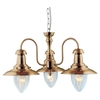 Searchlight Fisherman 3 Light Ceiling Light Antique Brass