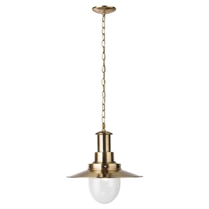 Searchlight Fisherman Ceiling Light Antique Brass