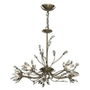 Searchlight Hibiscus 5 Light Ceiling Light Antique Brass