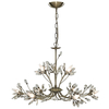 Searchlight Hibiscus 9 Light Ceiling Light Antique Brass