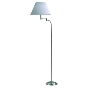 Lighting  - Swing Arm Floor Lamp Satin Chrome