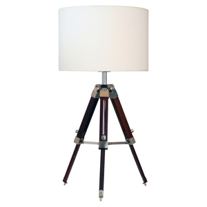 Table Lamps  - Tripod Table Lamp Chocolate/Cream