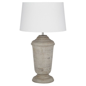 Table Lamps  - Wooden Table Lamp Grey