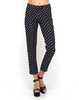 Women's Fashion|Casual Trousers Motel Jeanie Cigarette Pant in Reverse Polka Black