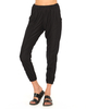 Women's|Casual Motel Zoe High Waisted Track Pants in Honeycombe Black Spandex