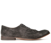 Rowe Suede Grey Brogue Shoe