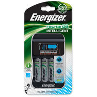 Calculators|Rechargeable Batteries|9V  - Energizer Intelligent Battery Charger for 4x A A/AAA Batteries Includes 4x AA 2000mAh Ref 637110