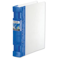 Archiving & Storage|Files  - Guildhall GLX Ergogrip Binder Capacity 400 Sheets 4x 2 Prong 55mm Spine A4 Frost Cobalt Blue Ref 4542 [Pack 2]