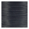 Arts & Crafts Supplies 1.5mm Rattail Satin Cord - Black - 92m (100yd) Roll