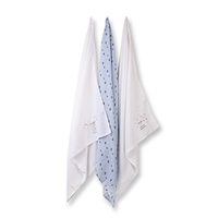 Baby Feeding  - Absorba Baby Muslin Set of 3 - Pale Blue