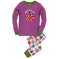 "Baby Wear  - Hatley Patterned Orchard Apples ""Apple of my Eye"" Applique PJ Set"