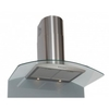 Smoke Hoods & Extractors Clearance Curved Glass Chimney Hood 90cm Stainless Steel