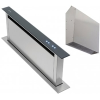 Smoke Hoods & Extractors  - Downdraft Extractor Hood 90cm Stainless & Black with External Motor