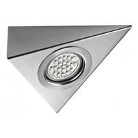 Lamps & Lights|Kitchen Equipment & Furniture  - Genus Under Cabinet LED Triangle Light Stainless Steel - Cool White