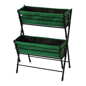 Flower Pots & Stands  - VegTrug™ Poppy Go! 2-Tier Planter (Dark Green)